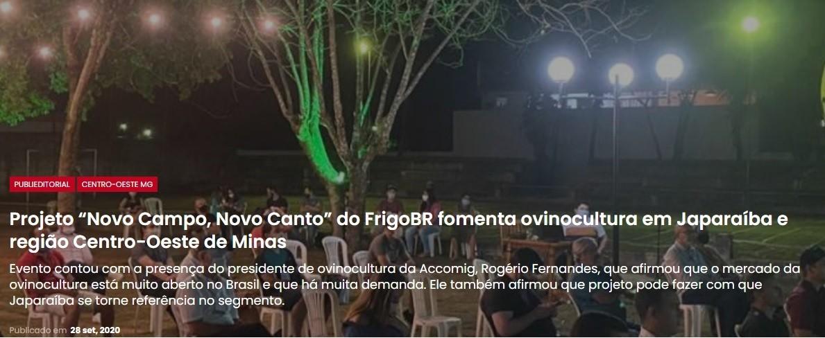 ACCOMIG NO EVENTO NOVO CAMPONOVO CANTO DO FrigoBR