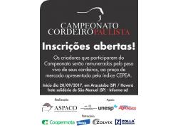 CAMPEONATO CORDEIRO PAULISTA 20/09/2017PARTICIPE!