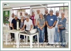 CURSO DE FABRICAÇÃO ARTESANAL DE QUEIJOS E DERIVADOS DO LEITE 05 e 06/11/2016