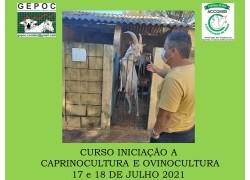 CURSO DE INICIAÇÃO A CAPRINOCULTURA E OVINOCULTURA TIPO LEITECORTE E MISTA17 e 18 de julho 2021