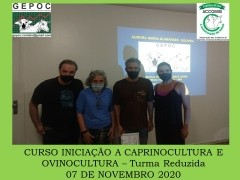 """CURSO DE INICIAÇÃO A CAPRINOCULTURA E OVINOCULTURA TIPO LEITECORTE E MISTA TURMA """"REDUZIDA&rdquo07 DE NOVEMBRO 2020"""