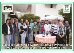CURSO DE INICIAÇÃO A CAPRINOCULTURA E OVINOCULTURA 02 e 03/07/2016