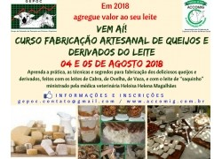 CURSO FABRICAÇÃO ARTESANAL DE QUEIJOS E DERIVADOS DOS LEITES DE CABRA,OVELHA E VACA