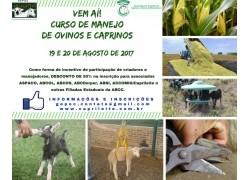 CURSO MANEJO DE OVINOS E CAPRINOS 1INSTALAÇÕESMANEJO NUTRICIONAL E DE PASTAGEM2MANEJO GERAL E SANITÁRIO