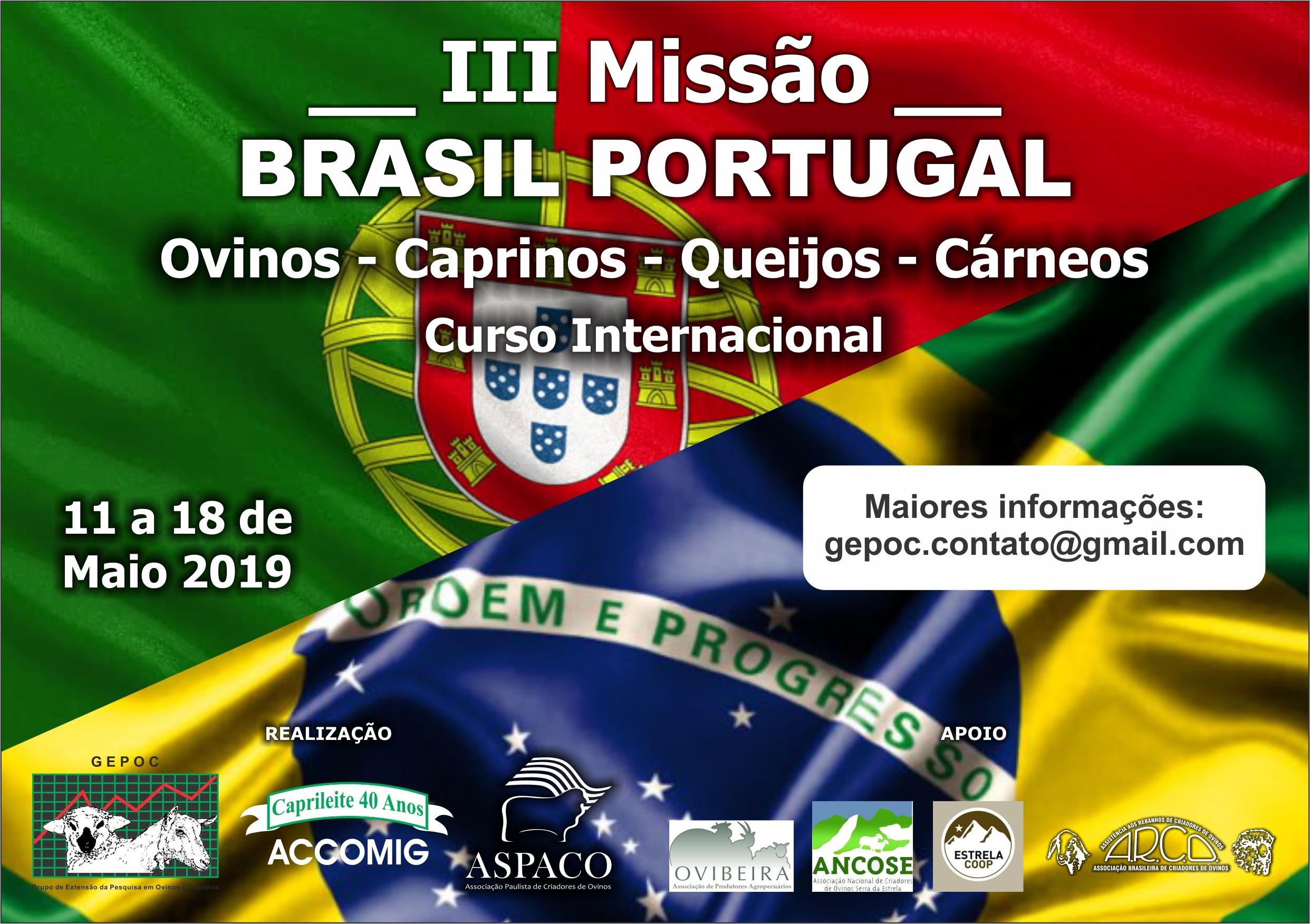 III MISSÃO BRASIL PORTUGAL 11 A 18/05/2019