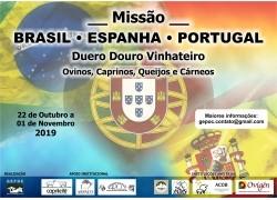 MISSÃO BRASIL – ESPANHA – PORTUGAL                                                                                                     22/10 a 01/11/ 2019