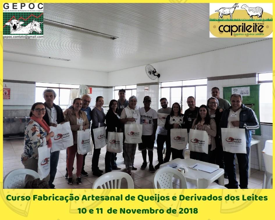 CURSO DE DERIVADOS DO LEITE DESSE FIM DE SEMANA FOI UM SUCESSO!