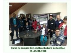 O Curso no campo: Ovinocultura Leiteira Sustentável 18 E 19/08/18 foi um sucesso!