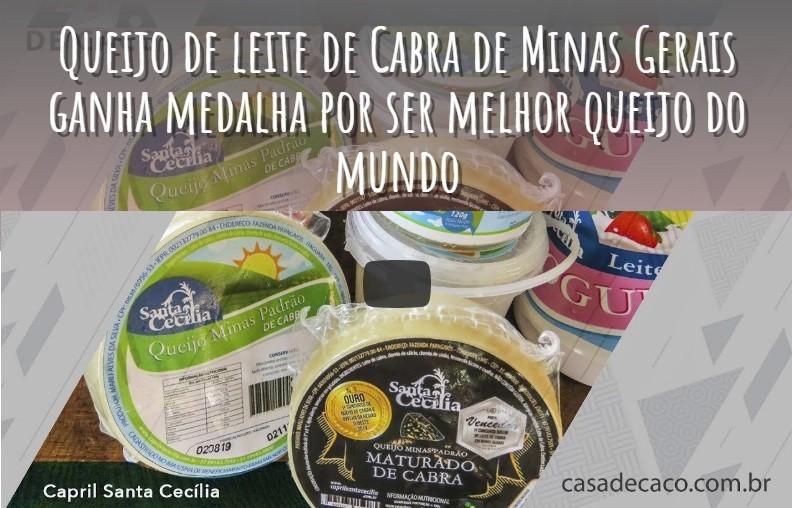 QUEIJO DE LEITE DE CABRA MEDALHISTA CAPRIL SANTA CECÍLIA