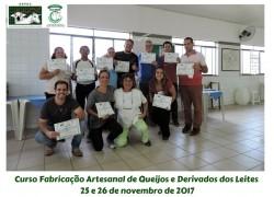 CURSO FABRICAÇÃO ARTESANAL DE QUEIJOS E DERIVADOS DO LEITE 25 e 26/11/2017
